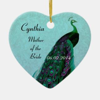 Aqua Green Mother of the Bride Wedding Thank You Ceramic Ornament