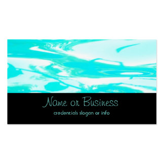 Aqua Green Pool Water Abstract Background Business Card