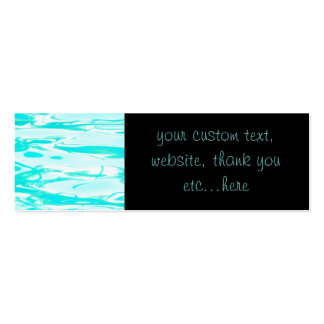 Aqua Green Pool Water Abstract Background Pack Of Skinny Business Cards
