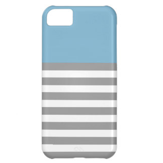Aqua & Grey Strips 5 5s Cases