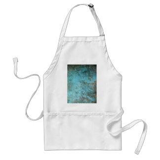 Aqua Grunge Texture Apron