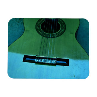 Aqua Guitar Rectangular Photo Magnet