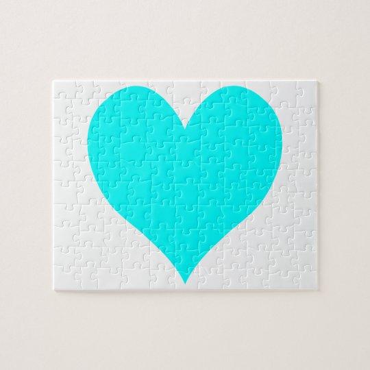 Aqua Heart Jigsaw Puzzle