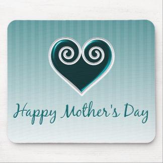 Aqua Heart Mother's Day Mousepad