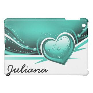 aqua hearts casing iPad mini cases