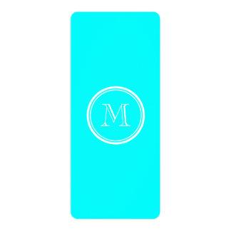 "Aqua High End Colored Personalized 4"" X 9.25"" Invitation Card"