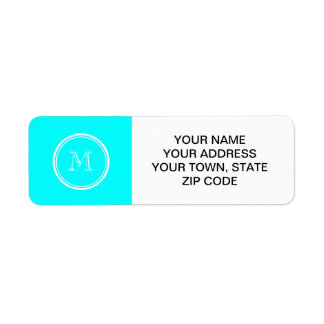 Aqua High End Colored Personalized Return Address Label