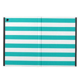 Aqua Horizontal Stripes Case For iPad Air