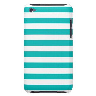 Aqua Horizontal Stripes Case-Mate iPod Touch Case