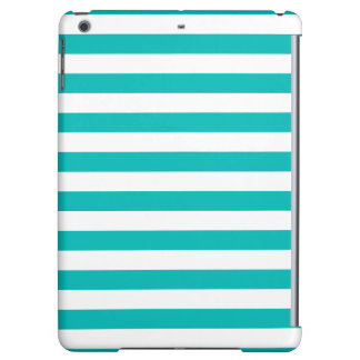 Aqua Horizontal Stripes Cover For iPad Air