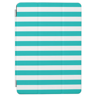 Aqua Horizontal Stripes iPad Air Cover
