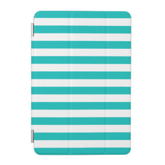 Aqua Horizontal Stripes iPad Mini Cover