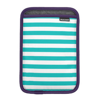 Aqua Horizontal Stripes iPad Mini Sleeve