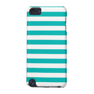 Aqua Horizontal Stripes iPod Touch 5G Case