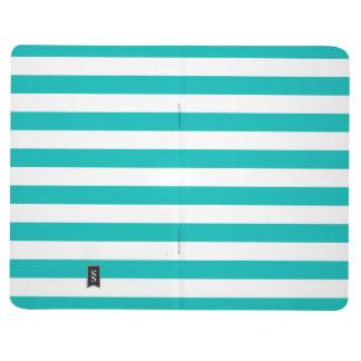 Aqua Horizontal Stripes Journal