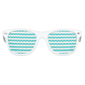 Aqua Horizontal Stripes Kids Sunglasses