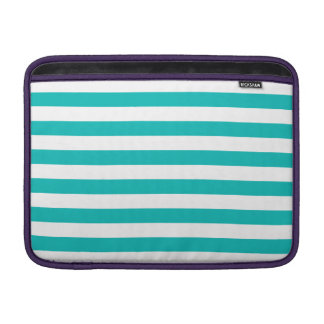 Aqua Horizontal Stripes MacBook Sleeve