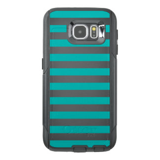 Aqua Horizontal Stripes OtterBox Samsung Galaxy S6 Case