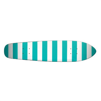 Aqua Horizontal Stripes Skate Board Decks