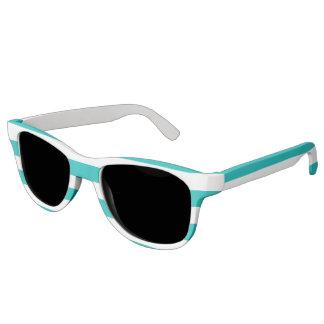 Aqua Horizontal Stripes Sunglasses