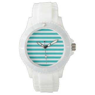 Aqua Horizontal Stripes Watches
