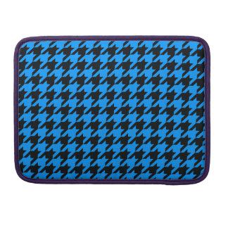 Aqua Houndstooth 2 MacBook Pro Sleeves