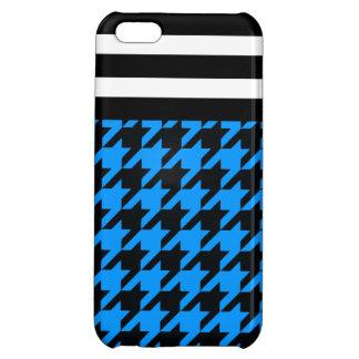 Aqua Houndstooth w/ Stripes 2 Cover For iPhone 5C