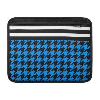 Aqua Houndstooth w/ Stripes 2 Sleeves For MacBook Air