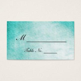 Aqua Hummingbird Watercolor Wedding Place Cards