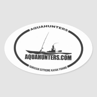 Aqua Hunter Extreme Kayak Fishing Oval Sticker