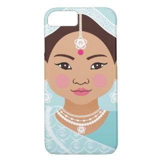 Aqua Indian Girl Matryoshka Case