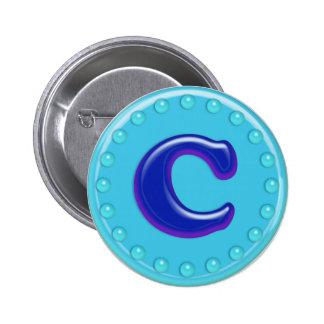Aqua Initial C Pins