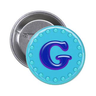 Aqua Initial G Pins