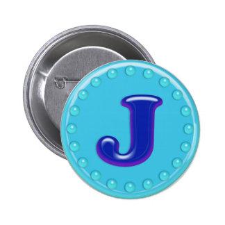 Aqua Initial J Pins