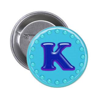 Aqua Initial K Pins