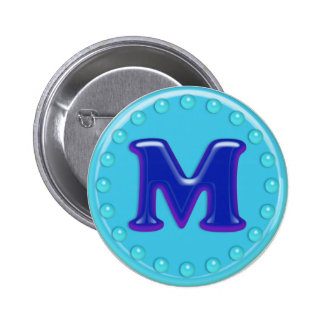 Aqua Initial M Buttons