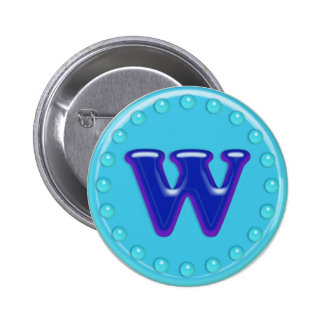 Aqua Initial W Buttons