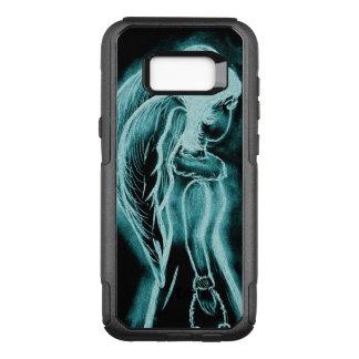 Aqua Inverted Angel OtterBox Commuter Samsung Galaxy S8+ Case