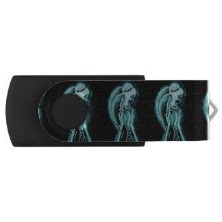 Aqua Inverted Angel USB Flash Drive
