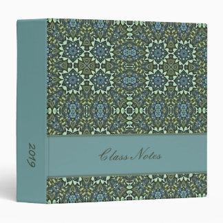 Aqua & Jade Kaleidoscope Pattern Custom Vinyl Binders