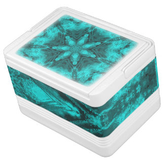 Aqua Kaleidoscope Star Igloo 12 Can Cooler