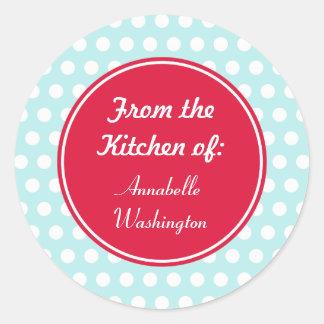 Aqua Kitchen Baking Gift Tags Stickers