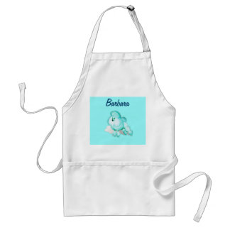 Aqua Kitchen Poodle Retro Apron Personalized