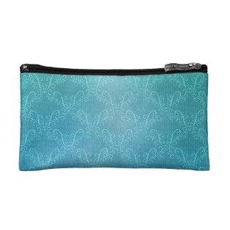 Aqua Lace Makeup Bag