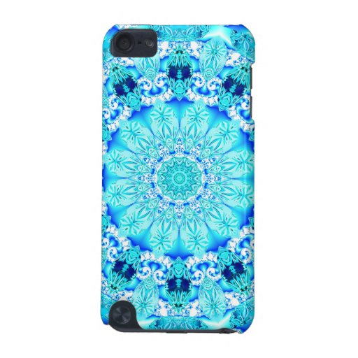 Aqua Lace Mandala, Delicate, Abstract Blue iPod Touch 5G Cover