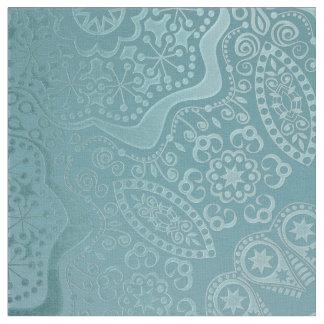 Aqua Lace Mandala Fabric