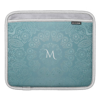 Aqua Lace Mandala iPad Sleeve