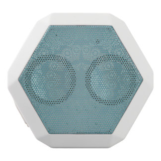 Aqua Lace Mandala White Bluetooth Speaker
