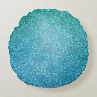 Aqua Lace Round Pillow