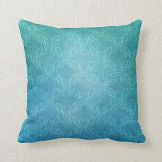 Aqua Lace Throw Pillow